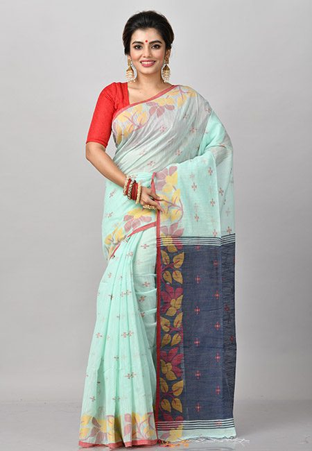 Neon Green Color Handloom Cotton Saree (She Saree 849)