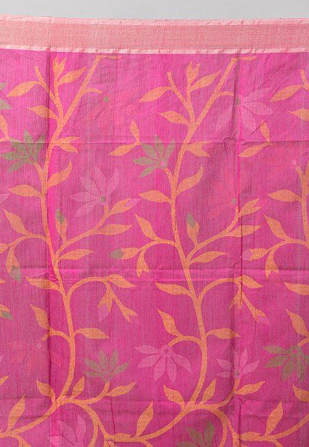 Deep Royal Blue Color Madhabilata Handloom Cotton Saree (She Saree 878)