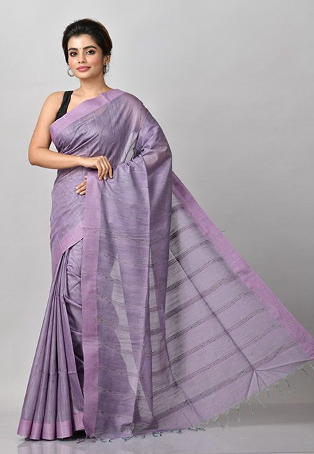 Mauve Color Matka Silk Saree (She Saree 897)