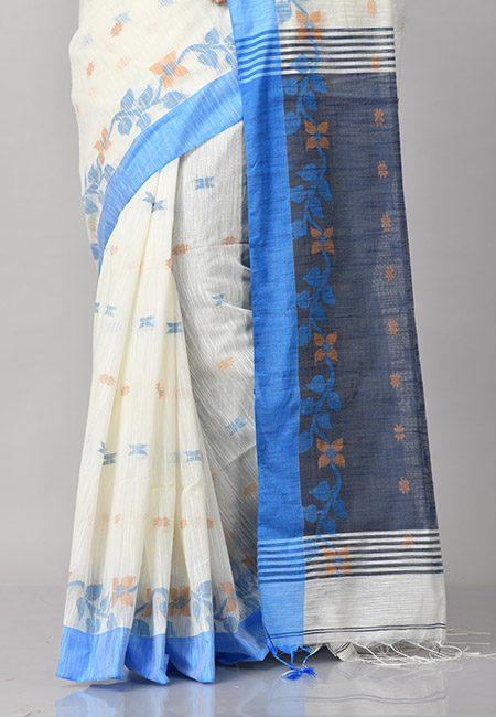 Off White Color Handloom Cotton Saree (She Saree 910)