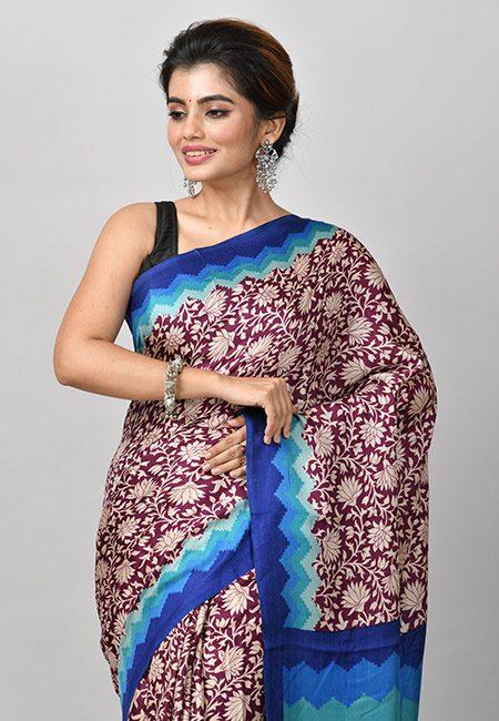 Maroon Color Woven Pashmina Silk Saree (She Saree 916)