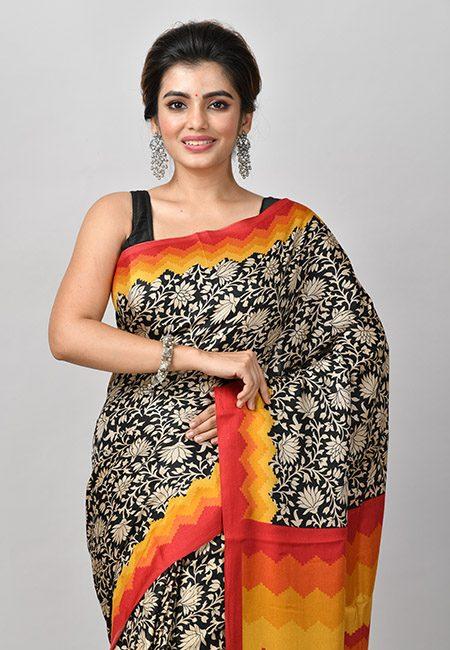 Black Color Woven Pashmina Silk Saree (She Saree 917)