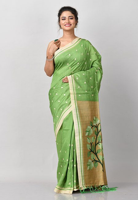 Parrot Green Color Matka Silk Saree (She Saree 928)