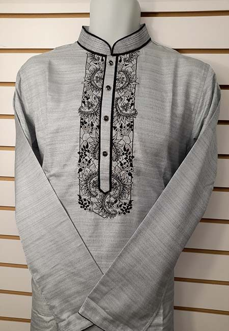Light Grey Color Regular Fit Cotton Punjabi (She Punjabi 563)