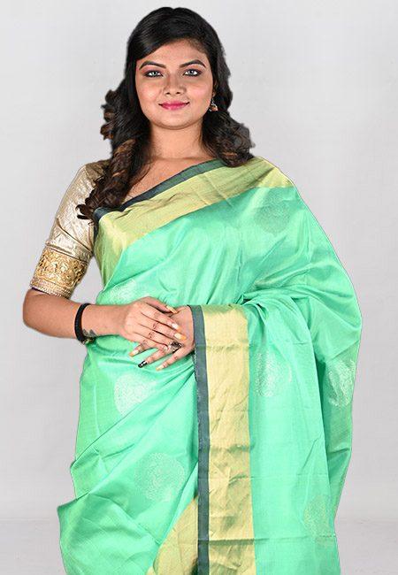 Light Green Color Kanivaram Silk Saree (She Saree 966)