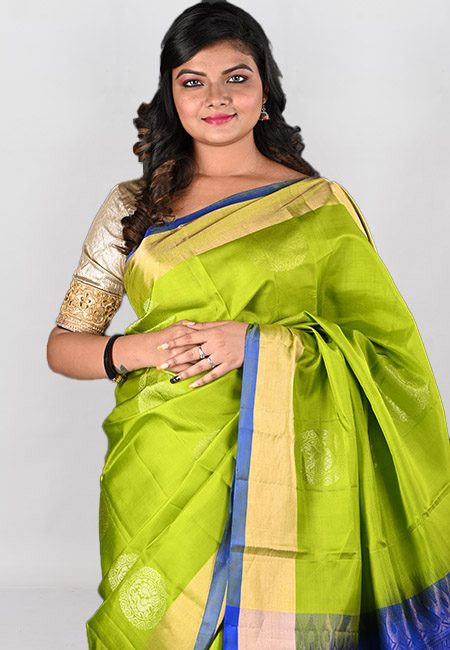 Olive Green Color Kanjivaram Silk Saree (She Saree 969)