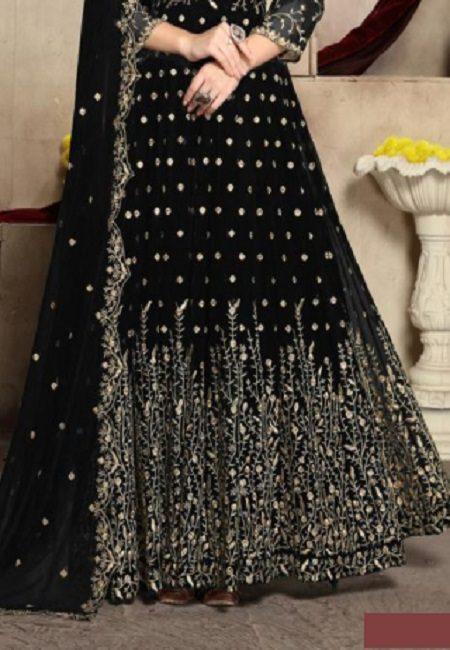 Black Color Georgette Designer Gown (She Gown 504)