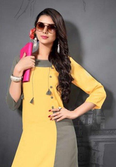 Yellow Color Fancy Kurti (She Kurti 507)