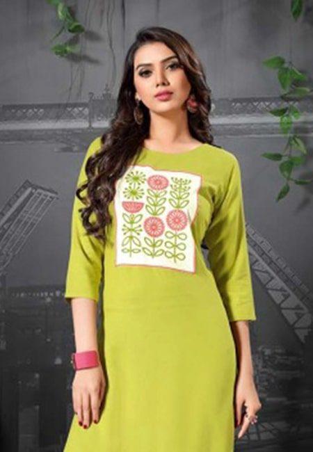 Pista Green Color Fancy Kurti (She Kurti 508)