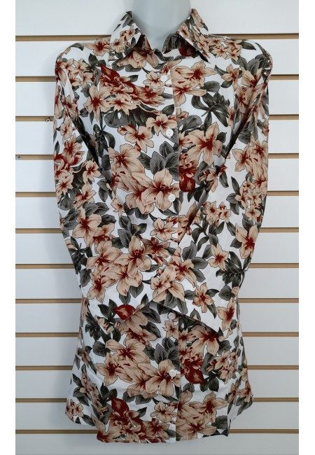 Off White Color Printed Linen Top (She Kurti 630)
