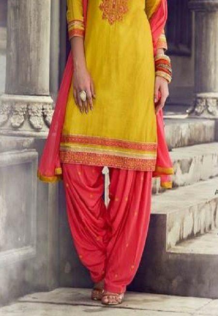 Mustard Color Designer Salwar Patiala Set (She Salwar 509)