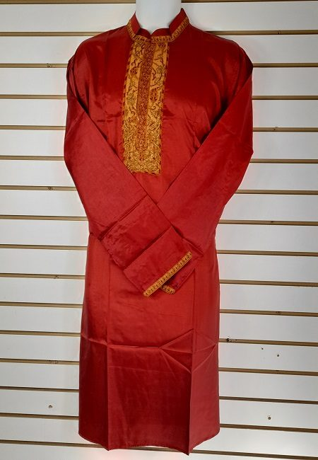 Maroon Color Regular Fit Silk Punjabi (She Boutique Punjabi 506)