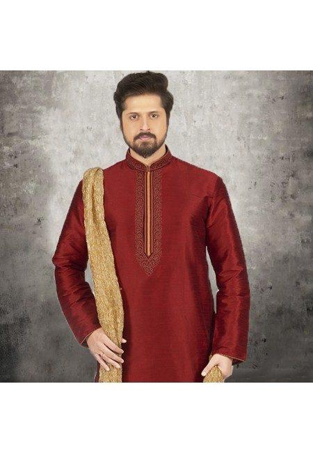 Maroon Color Banarasi Silk Punjabi Set (She SIlk Punjabi 540)