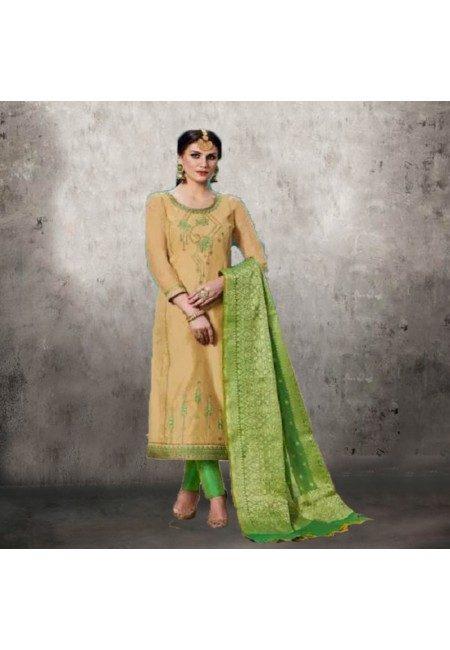Beige Color Designer Salwar Suit (She Salwar 556)
