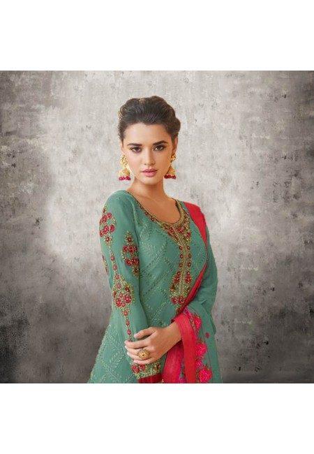Pastel Green Color Designer Salwar Suit Set (She Salwar 578)