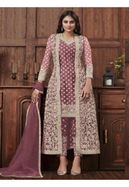 Lavender Color Embroidery Salwar Kameez (She Salwar 591)