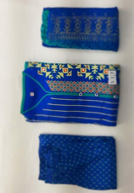 Royal Blue & Emerald Green Color Boutique Suit Set (She Boutique Suits 517)