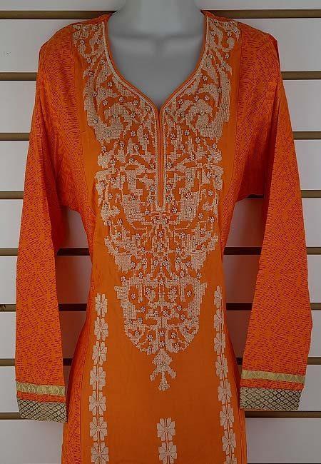 Orange Color Boutique Suit Set (She Boutique Suits 525)