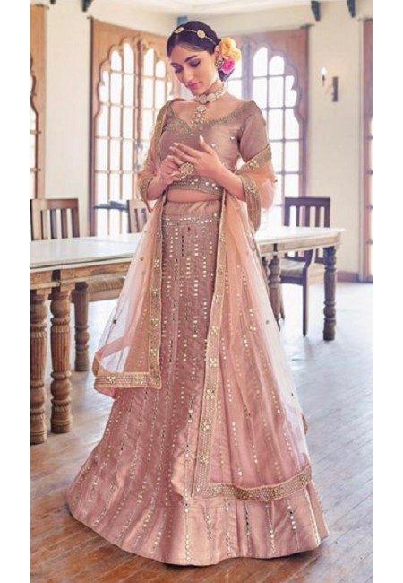 Rose Pink Color Designer Bridal Lehenga (She Lehenga 501)