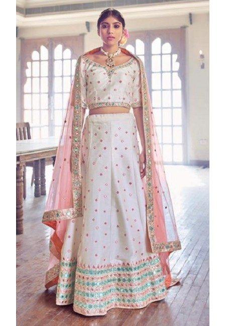 Off White Color Designer Bridal Lehenga (She Lehenga 502)
