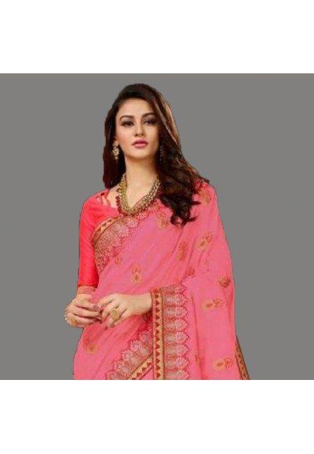 Orange Color Designer Silk Saree (She Saree 595)