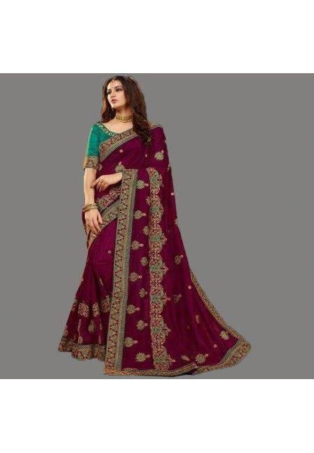 Maroon Color Designer Chiffon Saree (She Saree 596)