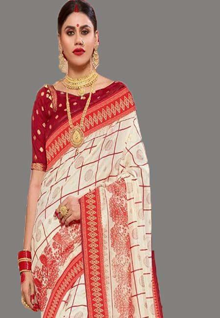 Off White Color Art Silk Saree (She Saree 703)