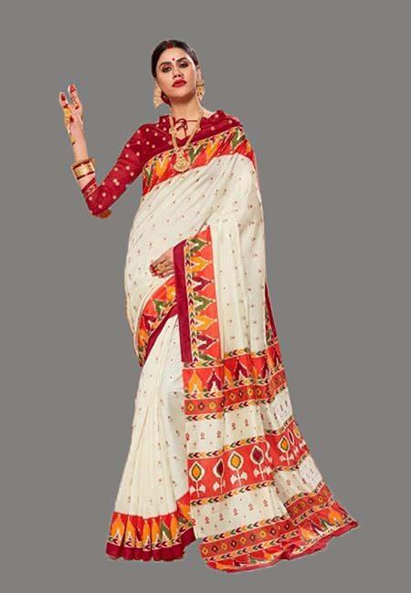 Off White Color Art Silk Saree (She Saree 705)