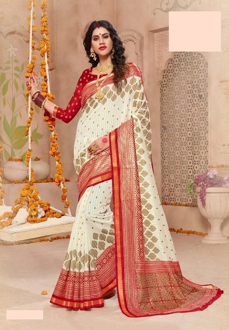 Off White Color Art Silk Saree (She Saree 706)