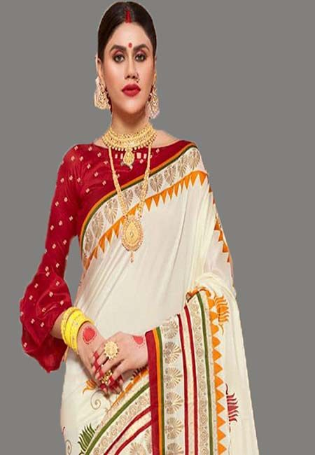 Off White Color Art Silk Saree (She Saree 707)