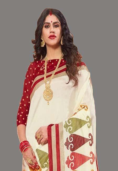 Off White Color Art Silk Saree (She Saree 709)