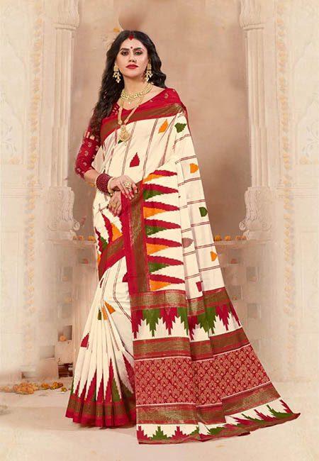 Off White Color Art Silk Saree (She Saree 711)