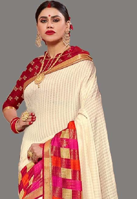 Off White Color Art Silk Saree (She Saree 712)