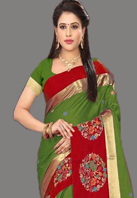 Pista Green Color Cotton SIlk Saree (She Saree 762)