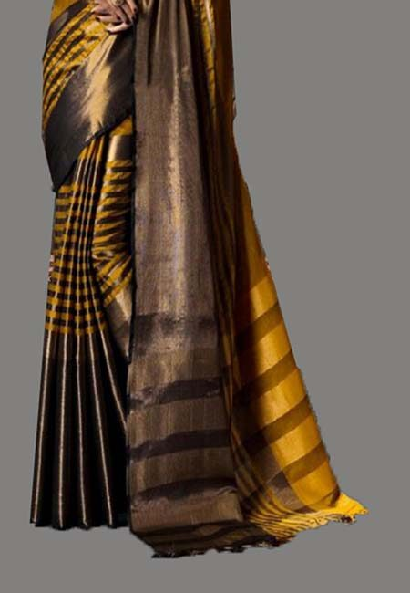 Mustard Color Cotton Silk Saree (She Saree 728)